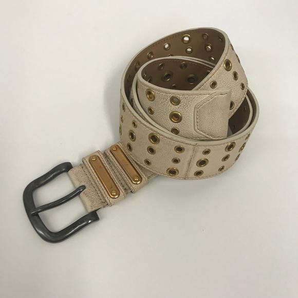 Prada Accessories - PRADA Leather Belt w Gold Tone Grommets SZ 90 36